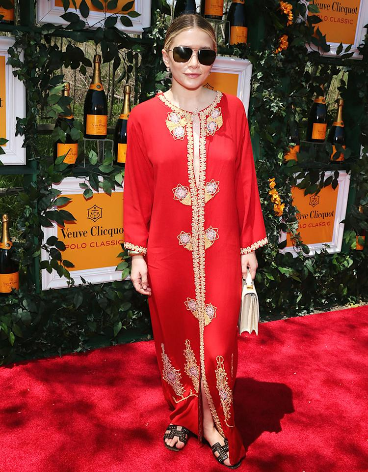JERSEY CITY, NJ - JUNE 01:  Ashley Olsen attends the sixth annual Veuve Clicquot Polo Classic on June 1, 2013 in Jersey City.  (Photo by Neilson Barnard/Getty Images for Veuve Clicquot)