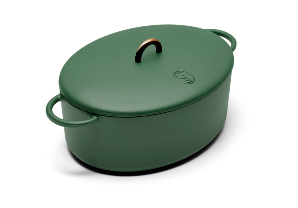 """<h2>The Dutchess</h2><br>Move this cast-iron Dutch oven from stovetop to dining table with its heat-retaining abilities. enameled cast-iron Dutch oven moves gracefully from stove to oven to table. <br><br><strong>Great Jones</strong> The Dutchess, $, available at <a href=""""https://go.skimresources.com/?id=30283X879131&url=https%3A%2F%2Fgreatjonesgoods.com%2Fproducts%2Fthe-dutchess"""" rel=""""nofollow noopener"""" target=""""_blank"""" data-ylk=""""slk:Great Jones"""" class=""""link rapid-noclick-resp"""">Great Jones</a>"""