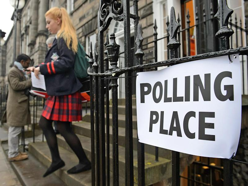 A young voter leaves a polling station after casting her vote during the 2014 referendum on Scotland's independence (Getty Images)