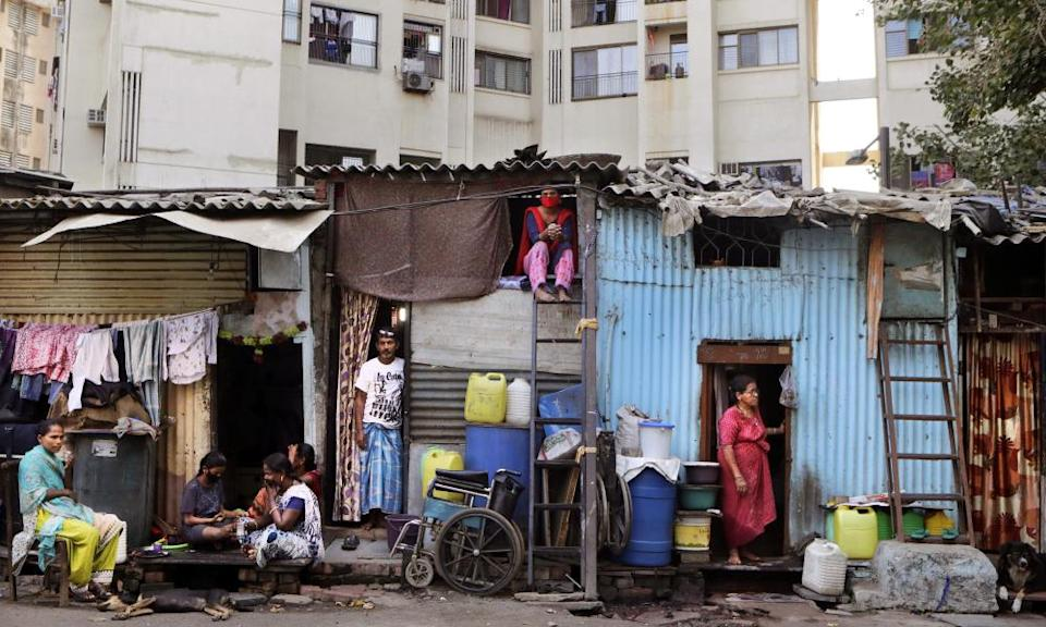 Shanty-town homes in Dharavi during the quarantine.