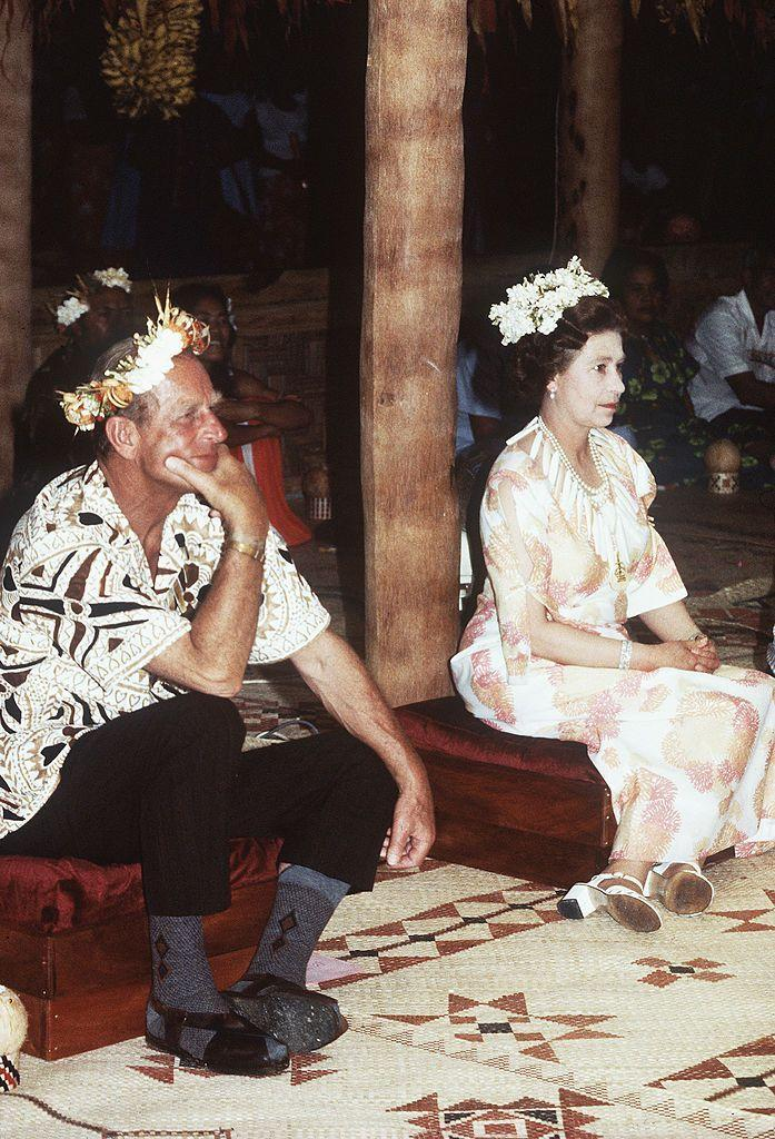 <p>In Tuvalu during a royal tour.</p>