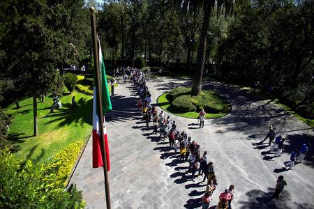 People queue to enter to Los Pinos Presidential residence, turned into a museum by order of Mexico's new President Andres Manuel Lopez Obrador, in Mexico City, Mexico December 1, 2018. REUTERS/Alexandre Meneghini
