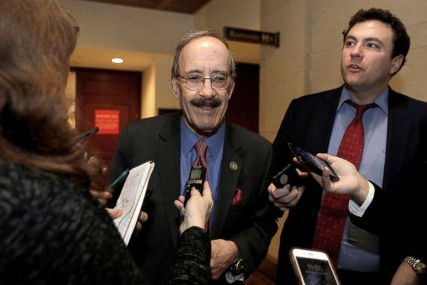 PHOTO: House Foreign Relations Committee Democratic Ranking member Rep. Eliot Engel (D-NY) speaks with reporters after a closed intelligence briefing with CIA Director Gina Haspel on Capitol Hill, Dec. 12, 2018. (Yuri Gripas/Reuters)