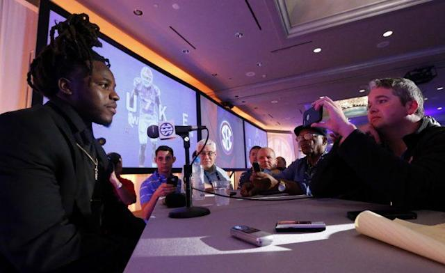 Marcell Harris was one of three players to represent Florida at SEC Media Days. (AP Photo/Butch Dill)