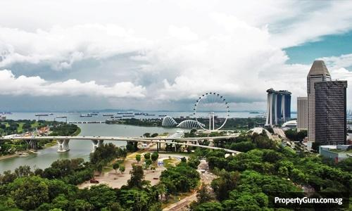 View of Singapore Flyer and Suntec from Concourse Skyline