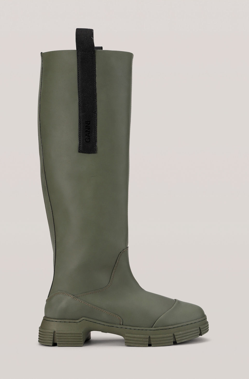 """<br><br><strong>Ganni</strong> Recycled Rubber Country Boots, $, available at <a href=""""https://go.skimresources.com/?id=30283X879131&url=https%3A%2F%2Fwww.ganni.com%2Fus%2Frecycled-rubber-country-boot-S1222.html%3Fdwvar_S1222_color%3DKalamata"""" rel=""""nofollow noopener"""" target=""""_blank"""" data-ylk=""""slk:Ganni"""" class=""""link rapid-noclick-resp"""">Ganni</a>"""
