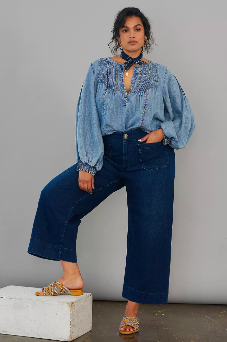 Pilcro Ultra High-Rise Wide-Leg Jeans. Image via Anthropologie.