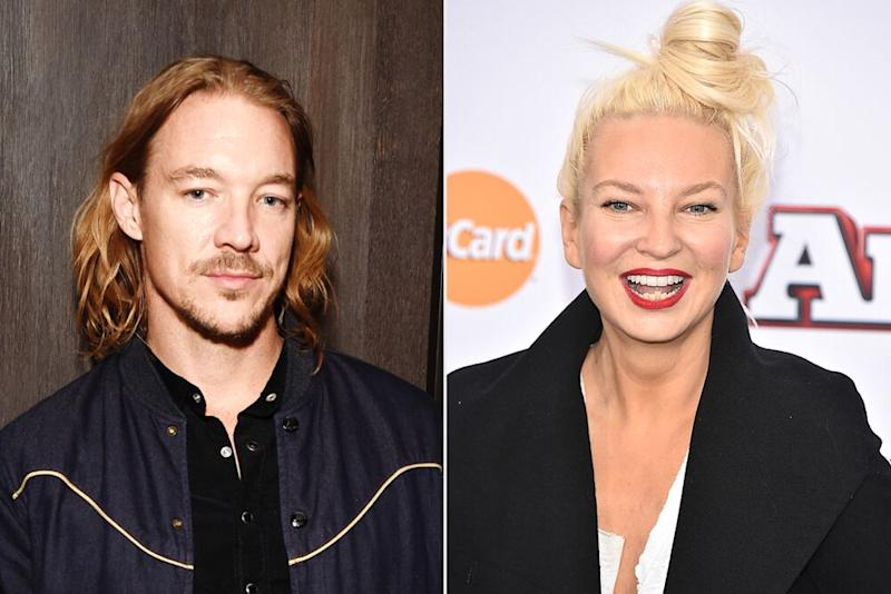 Diplo; Sia | Michael Kovac/Getty Images; Theo Wargo/Getty Images