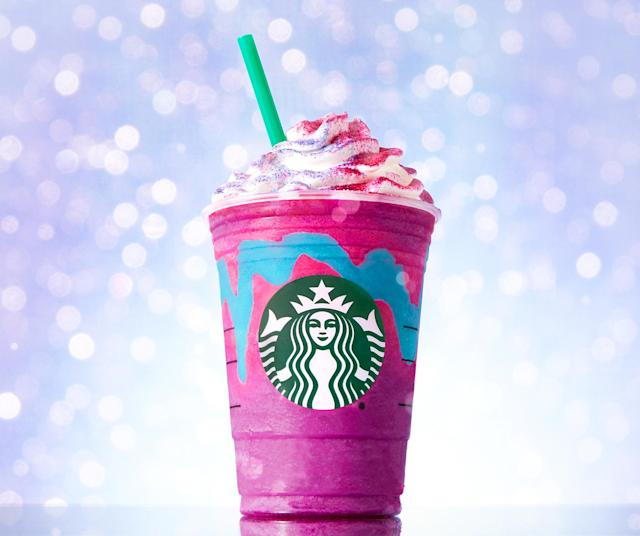 Us Weekly Video tried Starbucks' latest craze — the Unicorn Frappuccino — find out what it tastes like here