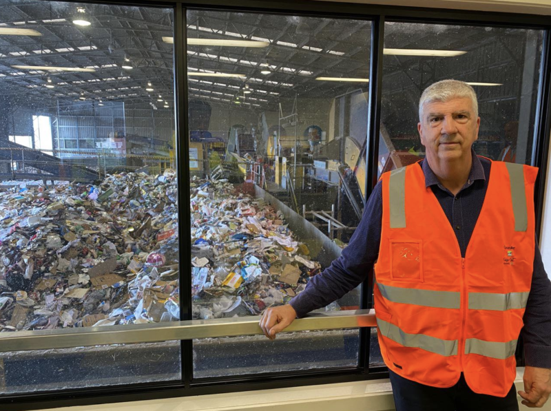 Phil Truscott was mortified to hear a kitten and live snake had been dumped into recycling bins. Source: Phil Truscott