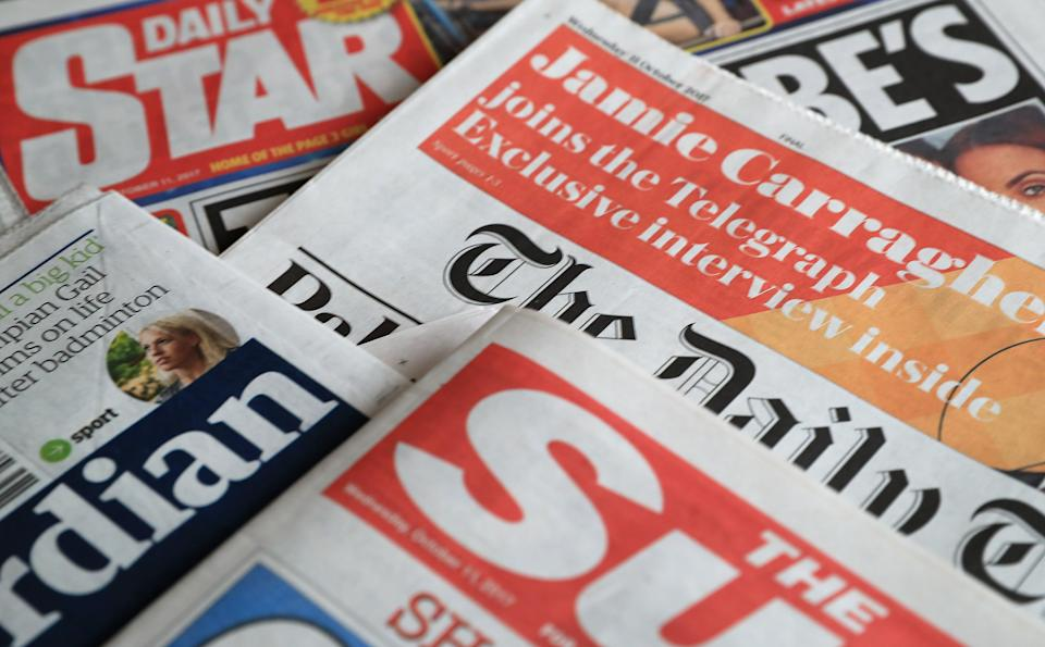What the papers say – July 26 (Peter Byrne/PA) (PA Archive)