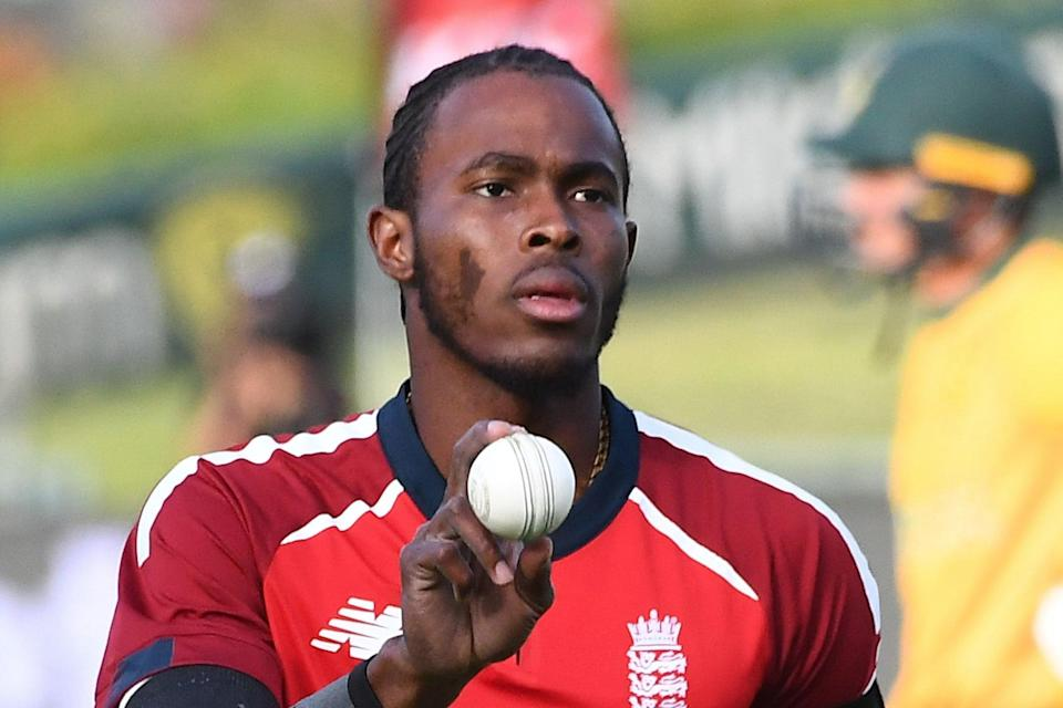 <p>Jofra Archer will return to training after hand surgery</p> (AFP via Getty Images)