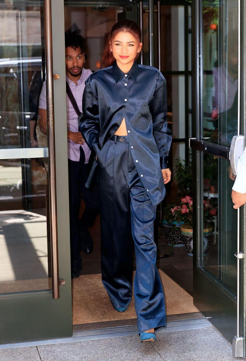 <p>Zendaya was seen in NYC wearing Peter Do from head to toe.<br></p>