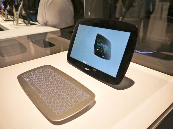 Sony also showed off a design it is considering for a new family of tablets and keyboards called Slate. (Scott Ard/Yahoo! News)