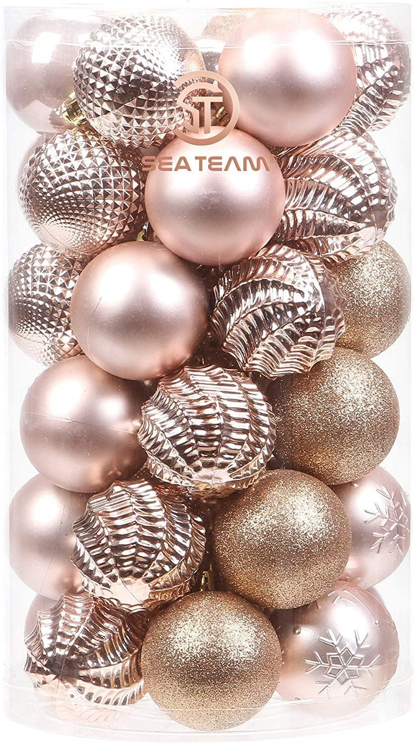 <p>The textures of these <span>Sea Team 41-Pack Christmas Ball Ornaments</span> ($16) are beyond gorgeous. </p>