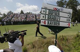 Martin Kaymer walks to the fourth green during the second round of the U.S. Open. (AP)