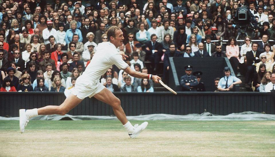 <p>Stan Smith during the final in which he beat Roumania's Ille Nastase in 1972.</p>