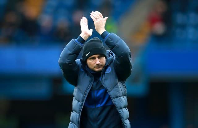 Frank Lampard, pictured, has applauded Raheem Sterling's brave stance on the fight for equality in football (Adam Davy/PA)