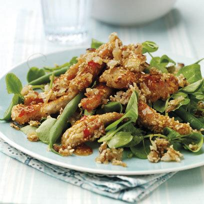 sweet chilli chicken salad