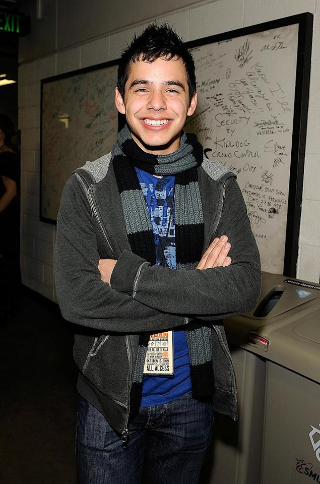 "As usual, 18-year-old ""Idol"" runner-up David Archuleta was grinning from ear to ear. Larry Busacca/<a href=""http://www.gettyimages.com/"" target=""new"">GettyImages.com</a> - October 13, 2009"