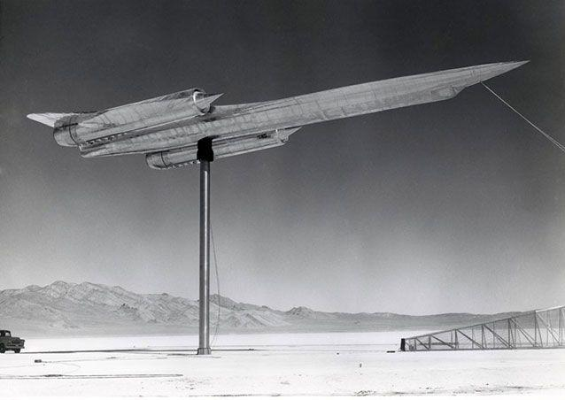 The A-12 supersonic spy plane, precursor to the Blackbird, one of the fastest jets ever built, at Area 51 circa 1962.