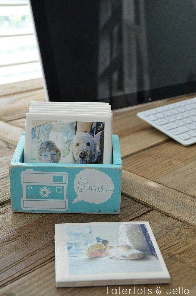 """<p>With only basic white tiles, Mod Podge, and your printed Instagram photos, this makes an adorable, personalized gift for mom. </p><p><em><strong>Get the tutorial from <a href=""""https://tatertotsandjello.com/2013/11/gift-idea-diy-instagram-coasters-in-wooden-box.html"""" rel=""""nofollow noopener"""" target=""""_blank"""" data-ylk=""""slk:Tatertots and Jello"""" class=""""link rapid-noclick-resp"""">Tatertots and Jello</a>. </strong></em></p><p><strong><a class=""""link rapid-noclick-resp"""" href=""""https://www.amazon.com/gp/slredirect/picassoRedirect.html/ref=pa_sp_atf_aps_sr_pg1_1?ie=UTF8&adId=A06840372F972874H2UTU&url=%2FCoasters-Unglazed-Painting-Projects-Decoupage%2Fdp%2FB07SHWSNPT%2Fref%3Dsr_1_1_sspa%3Fdchild%3D1%26keywords%3DWHITE%2BTILES%26qid%3D1605822681%26sr%3D8-1-spons%26psc%3D1&qualifier=1605822680&id=6618554625861262&widgetName=sp_atf&tag=syn-yahoo-20&ascsubtag=%5Bartid%7C10063.g.34832092%5Bsrc%7Cyahoo-us"""" rel=""""nofollow noopener"""" target=""""_blank"""" data-ylk=""""slk:SHOP WHITE TILES"""">SHOP WHITE TILES</a></strong></p>"""