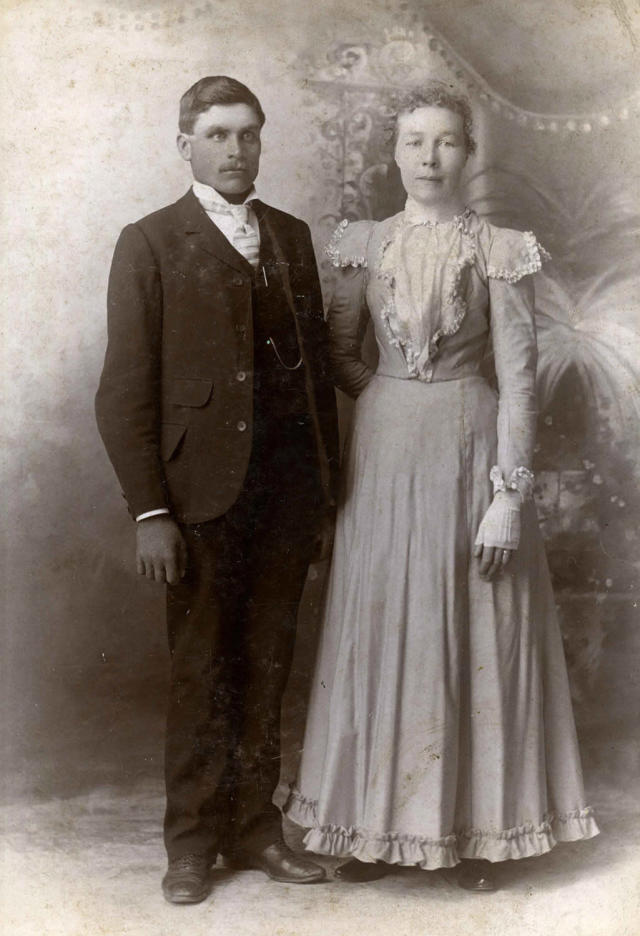 "<p>""As a whole, the collection is a snapshot — or a ""film"" — of married life about to happen, and relationships in the process of being formed, in the late 19th century."" (Pictured: Vintage wedding portraits from ""I Do, I Do"" exhibit) </p>"