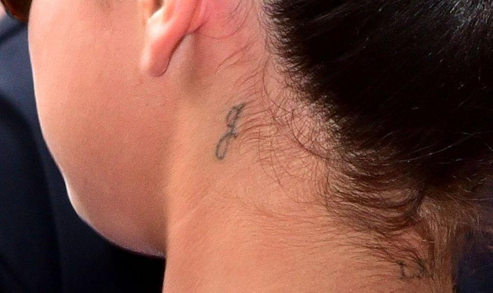 <p>Selena hasn't revealed the meaning behind this one, but fans seem to think it's a shout-out to her little sister Gracie. Lovely if true!</p>
