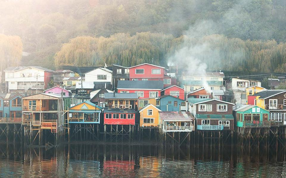 The stilted homes of Castro - PHILIP LEE HARVEY