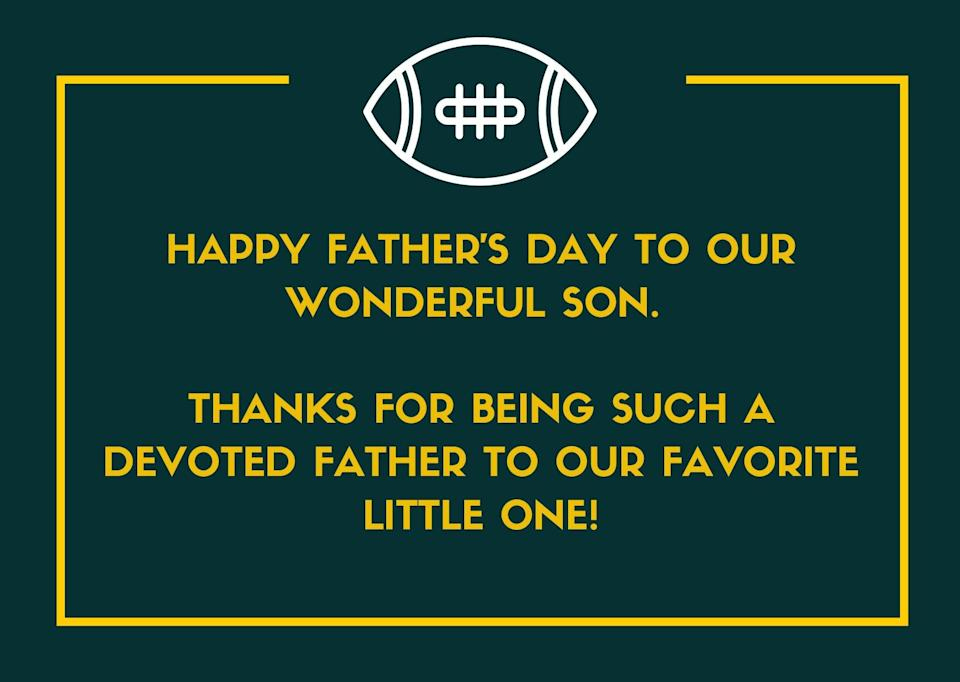 Father's Day Message for Son