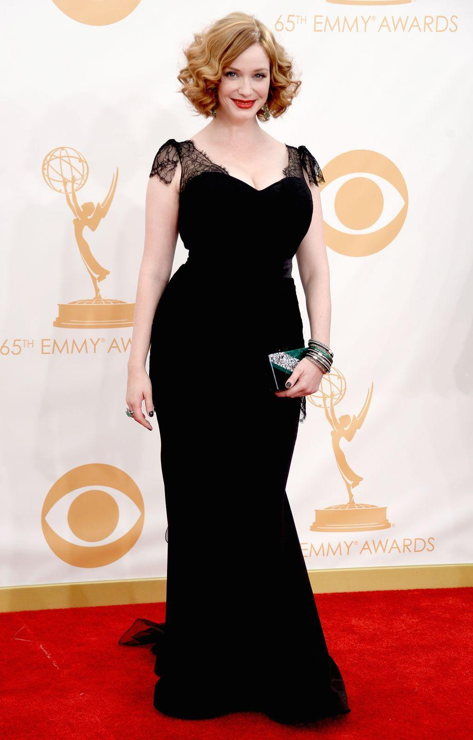 """<p>The <em>Mad Men</em> star revealed she had trouble finding a dress for the award seasons because she's a UK size 14. </p><p>""""People have been saying some nice, wonderful things about me. Yet not one designer in town will loan me a dress,"""" the actress told the <em><a href=""""http://www.dailyrecord.co.uk/entertainment/celebrity/christina-hendricks-designers-wont-give-1068344"""" rel=""""nofollow noopener"""" target=""""_blank"""" data-ylk=""""slk:Daily Record"""" class=""""link rapid-noclick-resp"""">Daily Record</a></em>. <br></p><p>""""They only lend out a size 0 or 2. So I'm still struggling for someone to give me a darn dress. This has always been my size. I've worked on other shows with this same size but <em>Mad Men </em>celebrates it and that is nice.""""<br></p><p><span class=""""redactor-invisible-space"""">Despite feeling excluded from the fashion industry for her curvaceous figure, she added that she had never been pressured to lose weight for a role. </span></p>"""