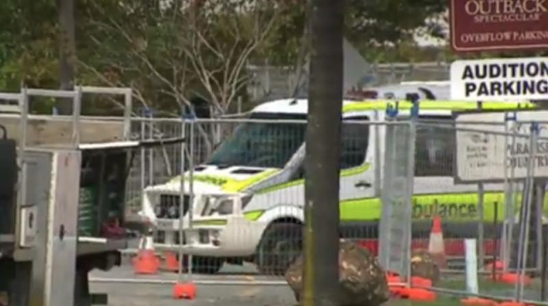 Paramedics rushed to the scene shortly after 8am. Source: 7 News