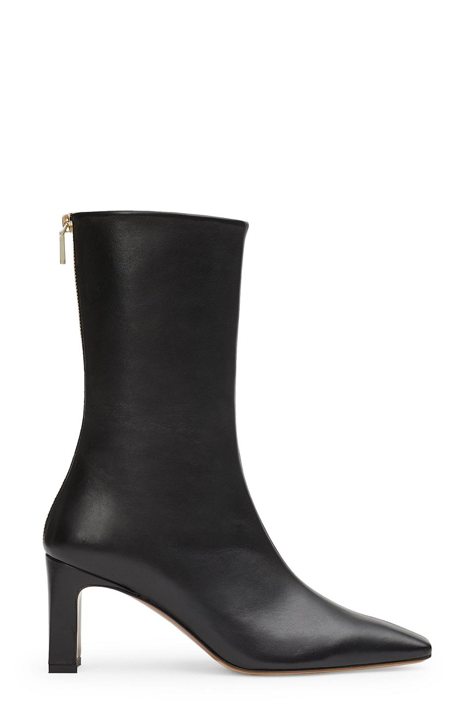 """<p><strong>LAFAYETTE 148</strong></p><p>nordstrom.com</p><p><a href=""""https://go.redirectingat.com?id=74968X1596630&url=https%3A%2F%2Fwww.nordstrom.com%2Fs%2Flafayette-148-new-york-anna-boot-women%2F5935904&sref=https%3A%2F%2Fwww.harpersbazaar.com%2Ffashion%2Ftrends%2Fg36946278%2Fnordstrom-anniversary-sale-fashion%2F"""" rel=""""nofollow noopener"""" target=""""_blank"""" data-ylk=""""slk:Shop Now"""" class=""""link rapid-noclick-resp"""">Shop Now</a></p><p><strong>Sale: $430</strong></p><p><strong>After Sale: $648</strong></p><p>These smooth-as-butter leather boots can be styled with just about everything and add sharpness to any look. </p>"""