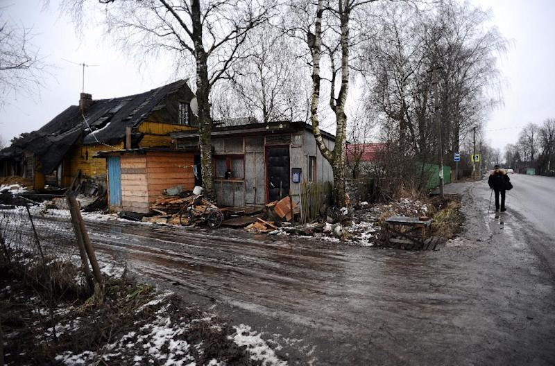 In a myriad of Russian villages like Voskresenskoye, pictured, the monetary turmoil roiling the nation's large cities still seems a largely distant threat