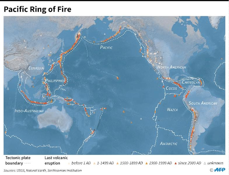 The Pacific Ring of Fire (AFP Photo/Sabrina BLANCHARD)