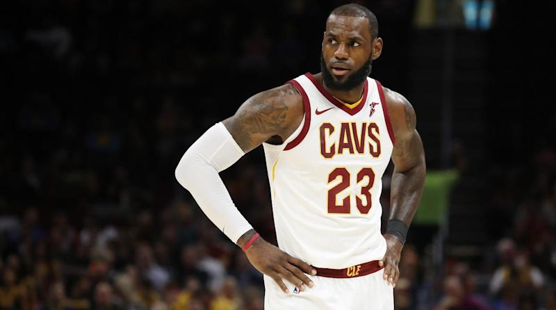 LeBron James' Nike Jersey Rips in NBA Season Opener