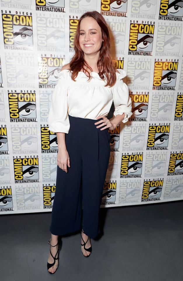 "<p>Brie looked super chic wearing Diane von Furstenberg to promote ""Kong: Skull Island"".<i> [Photo: Rex]</i></p>"