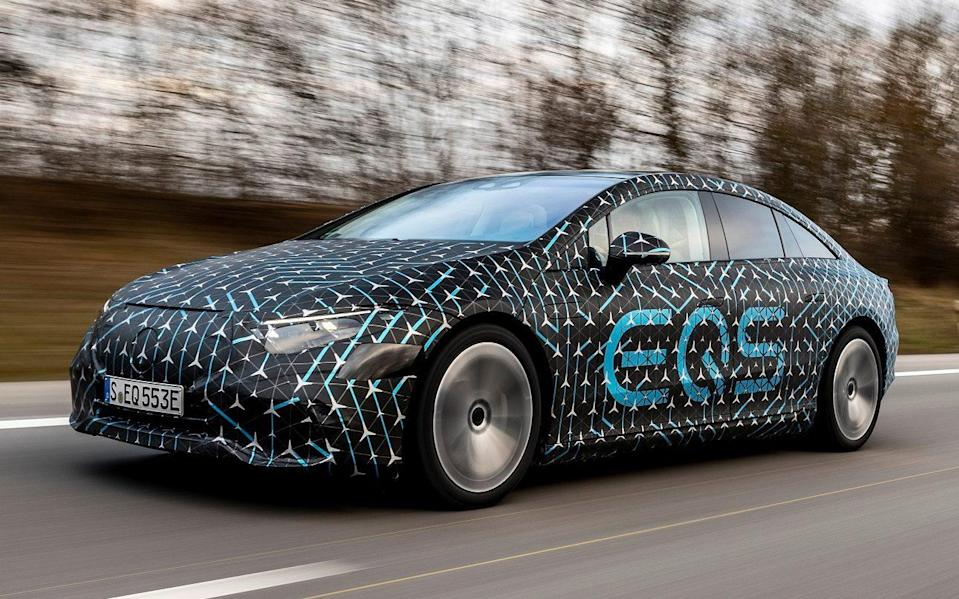 Mercedes EQS prototype - Stuttgart, March 2021