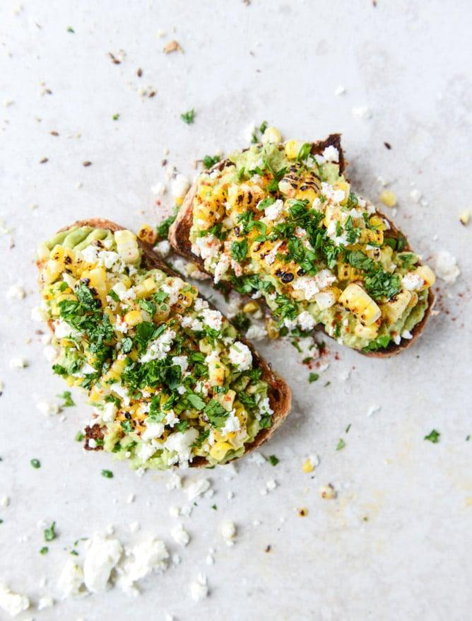 "<p>Why stop at grilled corn when you can top it on a generously slathered piece of avocado toast?</p> <p><b> Get the recipe:</b> <a href=""http://www.howsweeteats.com/2015/04/mexican-grilled-corn-avocado-toast"" class=""link rapid-noclick-resp"" rel=""nofollow noopener"" target=""_blank"" data-ylk=""slk:Mexican grilled corn avocado toast"">Mexican grilled corn avocado toast</a> </p>"