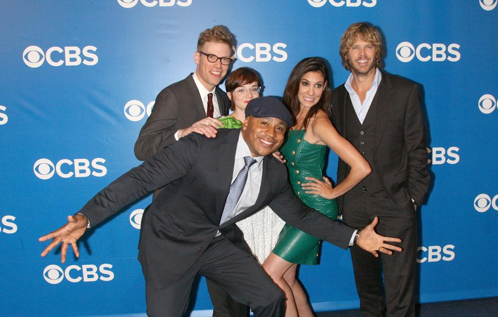 "Barrett Foa, Renee Felice Smith, LL Cool J, Daniela Ruah, and Eric Christian Olsen (""NCIS: Los Angeles"") attend CBS's 2012 Upfront Presentation on May 16, 2012 in New York City."