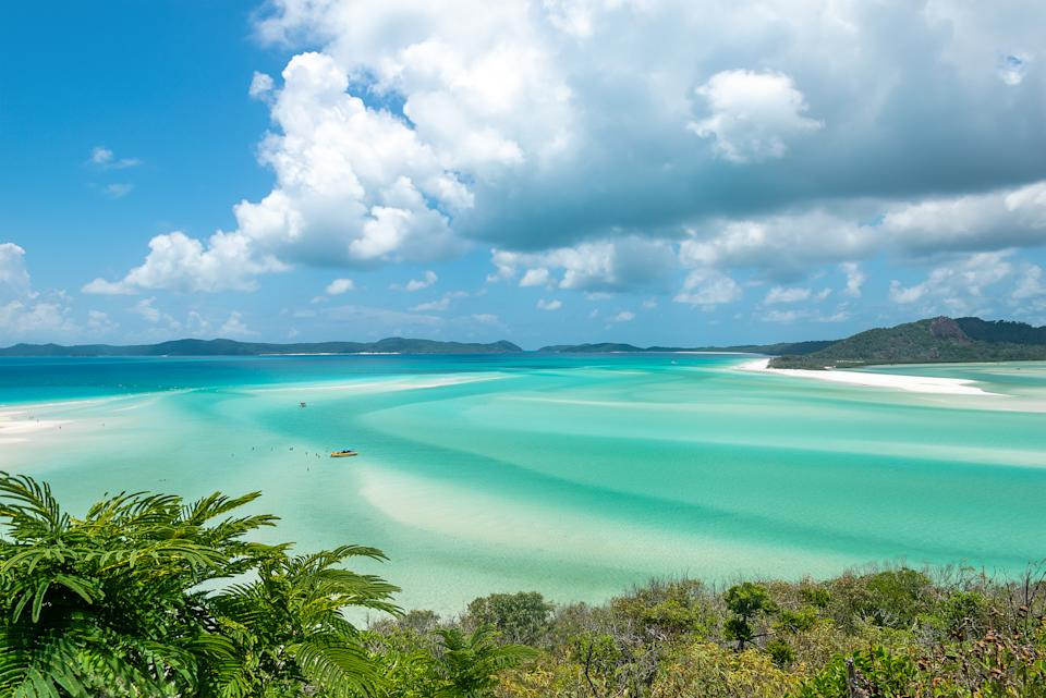 A view of Whitehaven beach in the Whitsunday islands, Queensland, Australia