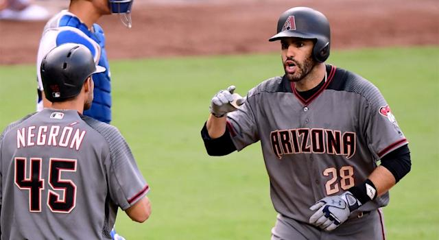 J.D. Martinez improved his free agent stock by helping drive the Arizona Diamondbacks to the playoffs. (AP)