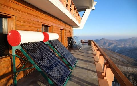 Solar water tanks at the luxury resort - Credit: NK News