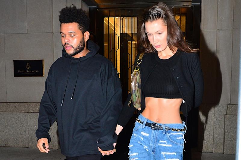 f22d128a6fcf7 The Weeknd Just Made a Rare Appearance With Bella Hadid Rocking  Balenciaga s New Track Sneakers