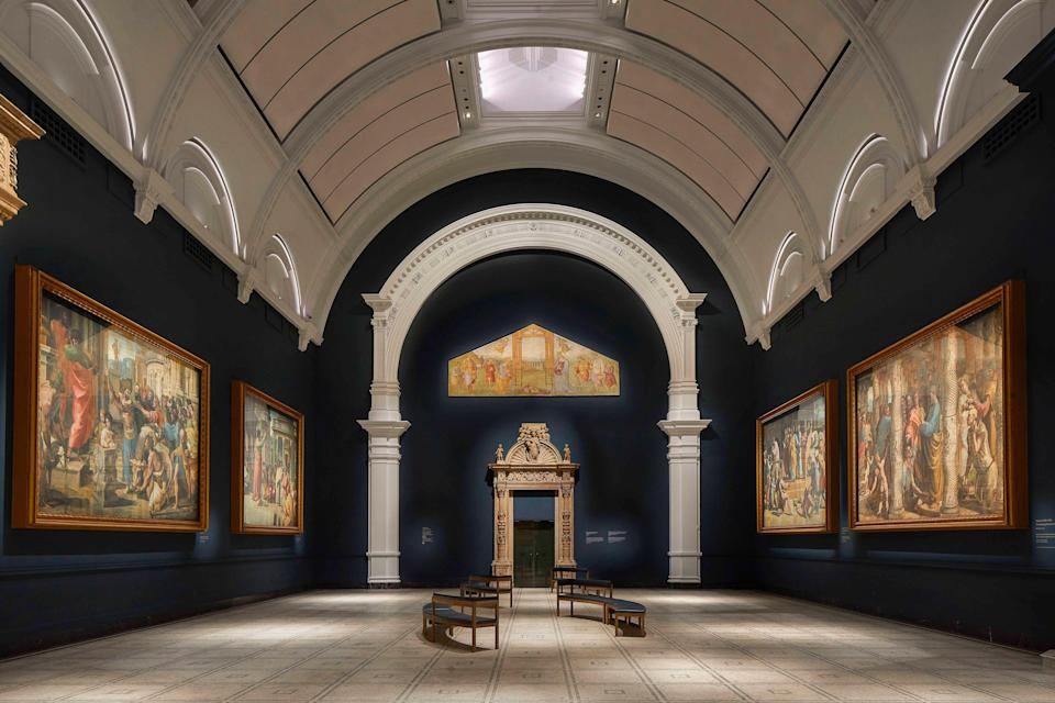 <p>Refurbished Raphael Court at the V&A</p> (handout)