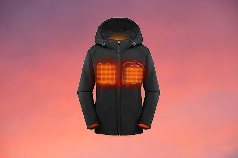 ORORO Women's Slim Fit Heated Jacket with Battery Pack and Detachable Hood. (Photo: Amazon)