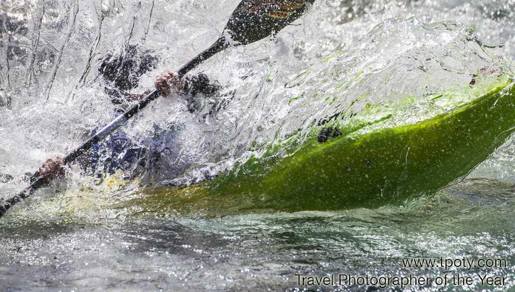 Brandseth Valley, Voss, Norway <br><br>Hilde Foss, Norway<br><br>Camera: Canon 7D <br><br>Winner, One Shot 'Water' (single image category)<br><br>Norwegian amateur photographer Hilde Foss's exhilarating image of a kayaker took the top prize, winning her a Fujifilm X10 digital camera, Adobe Photoshop Lightroom 4 and a collection of Travel Photographer of the Year books.