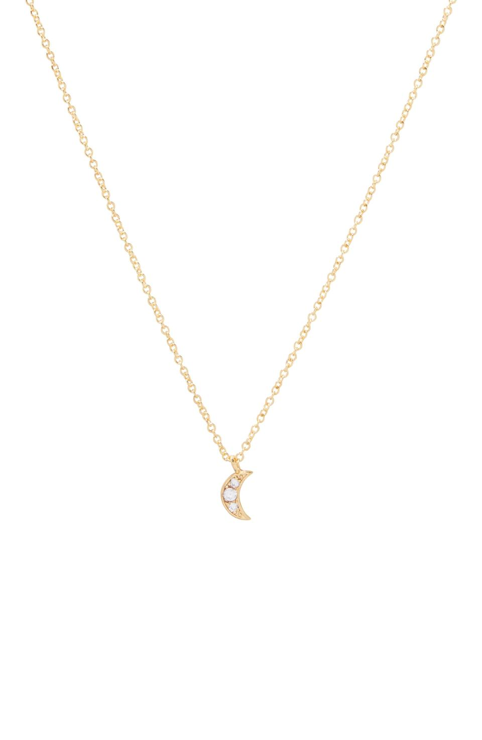 """<p><strong>Gorjana</strong></p><p>nordstrom.com</p><p><strong>$48.00</strong></p><p><a href=""""https://go.redirectingat.com?id=74968X1596630&url=https%3A%2F%2Fwww.nordstrom.com%2Fs%2Fgorjana-moon-charm-pendant-necklace%2F5781028&sref=https%3A%2F%2Fwww.townandcountrymag.com%2Fleisure%2Farts-and-culture%2Fg35091966%2Fdickinson-cottagecore-fashion%2F"""" rel=""""nofollow noopener"""" target=""""_blank"""" data-ylk=""""slk:Shop Now"""" class=""""link rapid-noclick-resp"""">Shop Now</a></p>"""