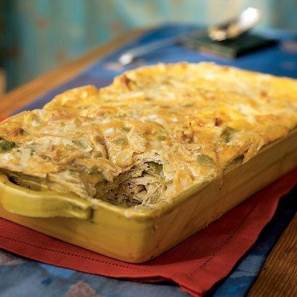 """<p>Just about every New Mexican home has a favorite version of this chicken casserole recipe. This one features the convenience of canned cream of chicken soup, and you can make it a day ahead. </p><p><a href=""""https://www.myrecipes.com/recipe/green-chile-chicken-casserole"""">Green Chile-Chicken Casserole Recipe</a></p>"""