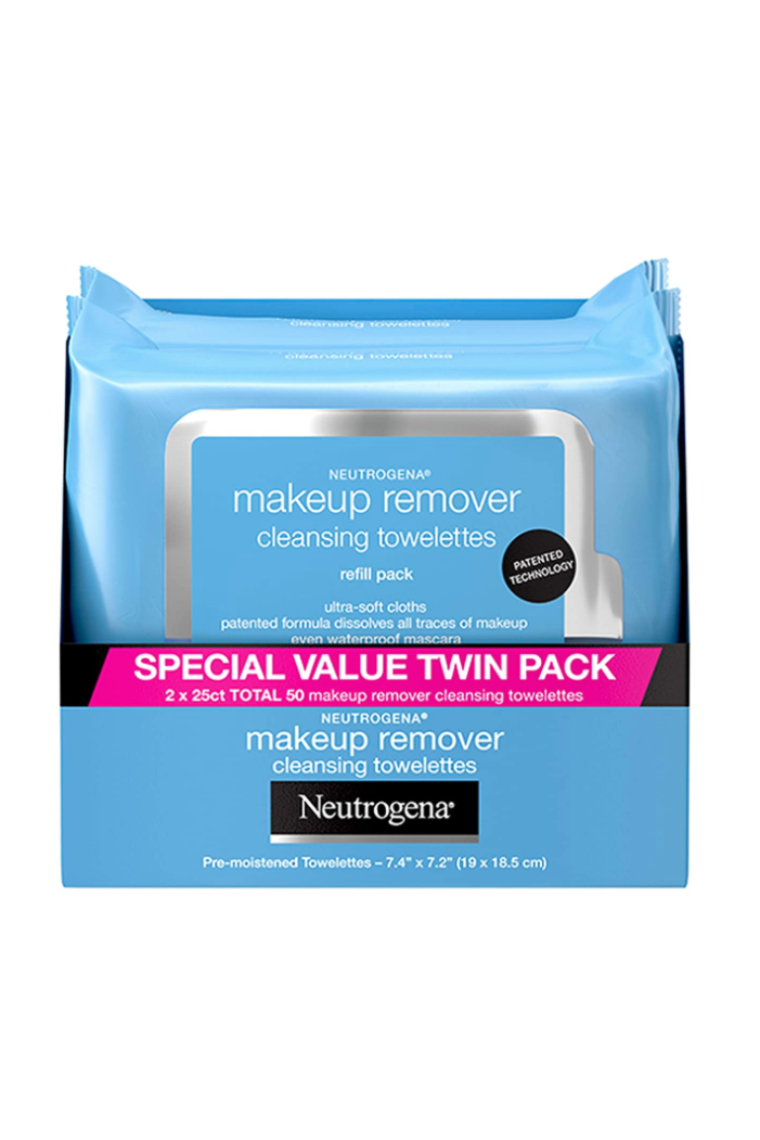 """<p><strong>Neutrogena</strong></p><p>amazon.com</p><p><strong>$7.50</strong></p><p><a href=""""https://www.amazon.com/Neutrogena-Makeup-Removing-Wipes-Count/dp/B00U2VQZDS/ref=sr_1_2?crid=1KLB0SO2HSG3X&dchild=1&keywords=neutrogena+makeup+remover+wipes&qid=1589570482&s=beauty&sprefix=neutrogena+makeup+re%2Cbeauty%2C151&sr=1-2&tag=syn-yahoo-20&ascsubtag=%5Bartid%7C10058.g.33863683%5Bsrc%7Cyahoo-us"""" rel=""""nofollow noopener"""" target=""""_blank"""" data-ylk=""""slk:SHOP IT"""" class=""""link rapid-noclick-resp"""">SHOP IT</a></p><p>For those nights that you close your eyes for a peaceful night's sleep and then realize you've tucked in without removing that glittery shadow you were so pumped about earlier. Even waterproof makeup slips right off after a few motions with one of these. Kobe-shoot it right into your trash, and <em>zzzzz</em>.<br></p>"""